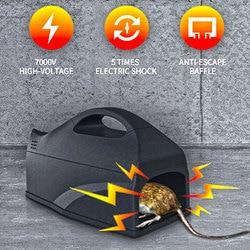 1 sztuk elektryczna mysz pułapka na szczury zabójca myszy elektroniczna gryzoń mysz Zapper pułapka humanitarny gryzoń pułapka na myszy urządzenie w Pułapki od Dom i ogród na