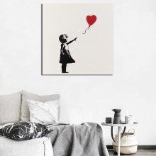 Banksy Girl With Balloon Graffiti Art Canvas Poster Oil Painting Wall Picture Print Modern Home Bedroom Decoration Accessories