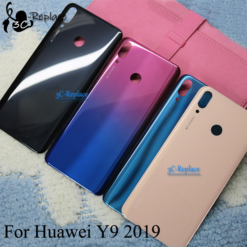 Cover Door-Housing-Case Glass-Parts Back-Battery Huawei for Rear JKM-TL00 Y9