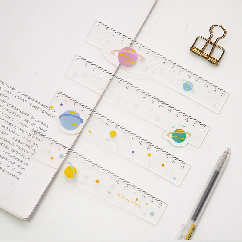 Star Shape Plastic Ruler Measuring Straight Ruler Tool Promotional Gift Stationery
