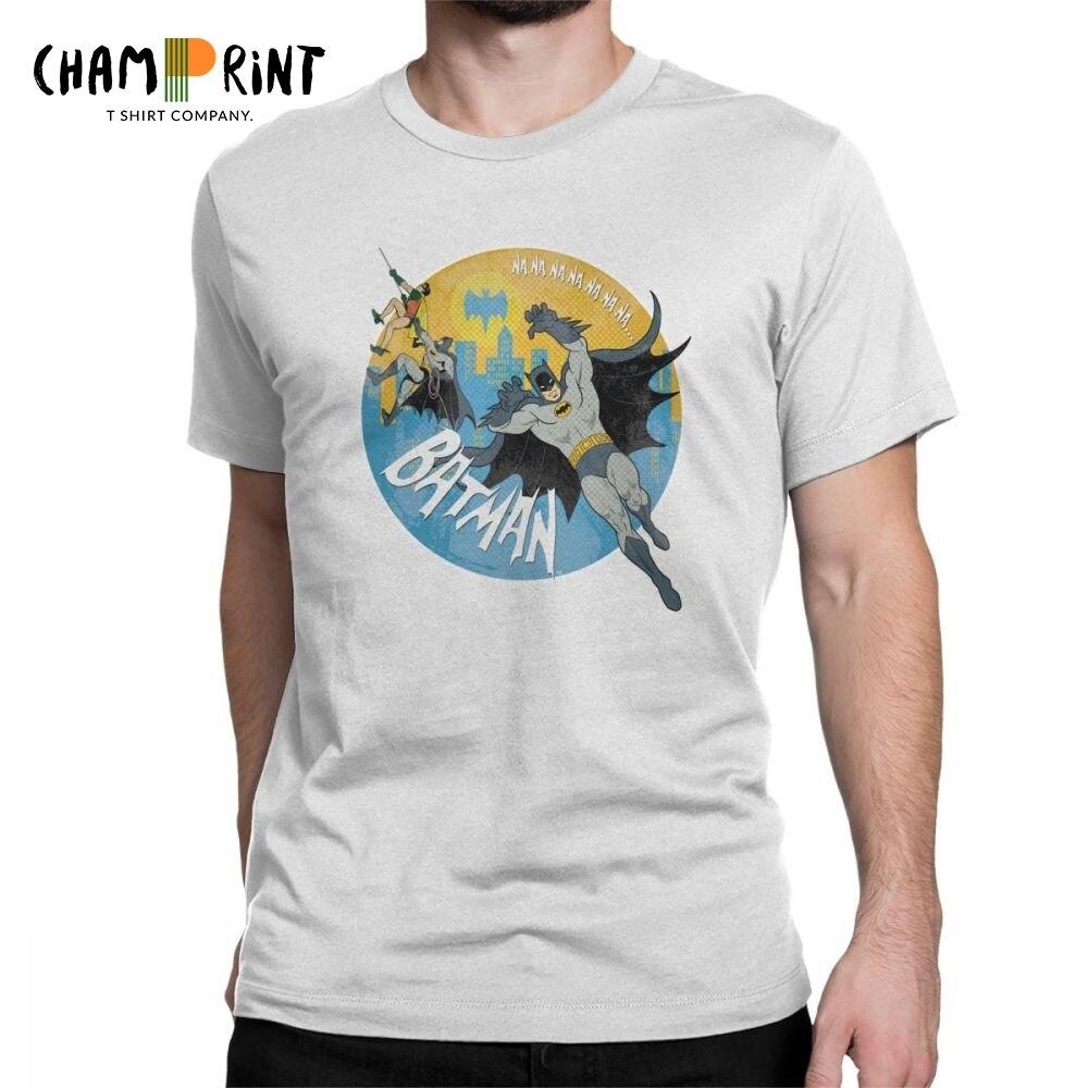 Man/'sT-shirt Yellow Batman printed Short Sleeve t-shirt O-neck t-shirt S-6XL
