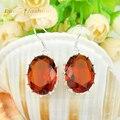 Fuego promoción Oval Brazil cristal citrino. pendientes de boda para Wmen rusia ee.uu. Australia pendientes Bijoux