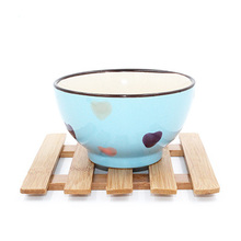 Square anti scald thermal insulation bamboo pad, bowl pad 15*15cm free shipping