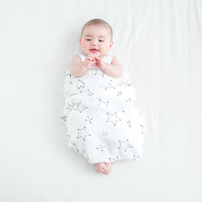 2018 New Infant Baby Blanket Newborn Baby Bedding Muslin Blanket Swaddle Bamboo Cotton Soft Baby Bath Towel Swaddle Blankets