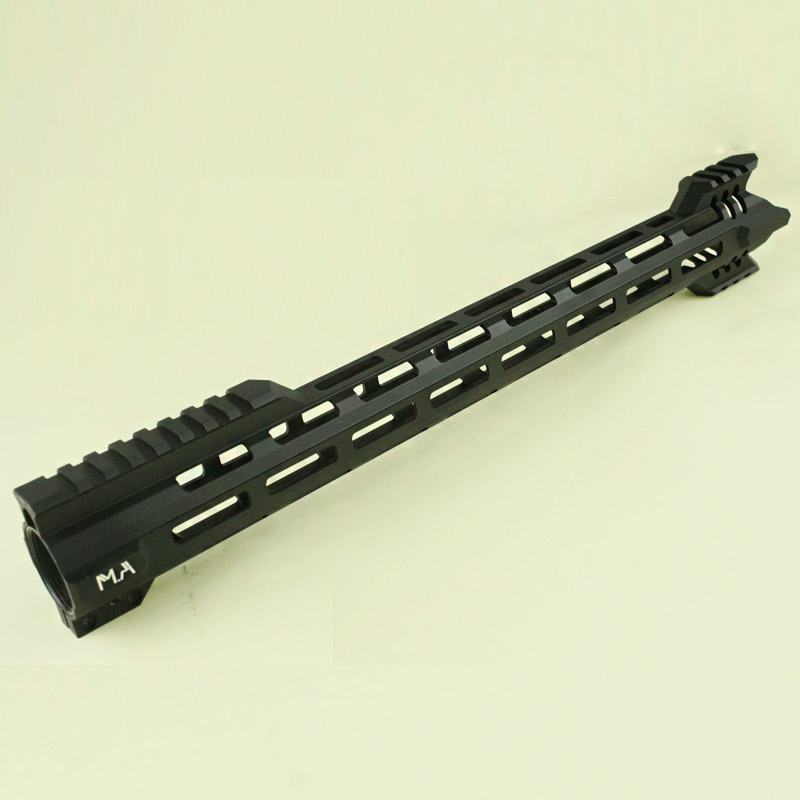 New Style CNC Aluminum Lightweight 16 inch Free Float Handguard Rail system hunting Accessories BK CB ak 47 tactical quad rail picatinny handguard system cnc aluminum full length tactical for ak rifles 26cm hunting gun accessories