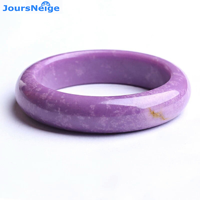 Dream Pattern Purple Natural Mica Ore Bangles Lucky for Women Birthday Present Lucky Crystal Bangle Ladies Jewelry JoursNeige