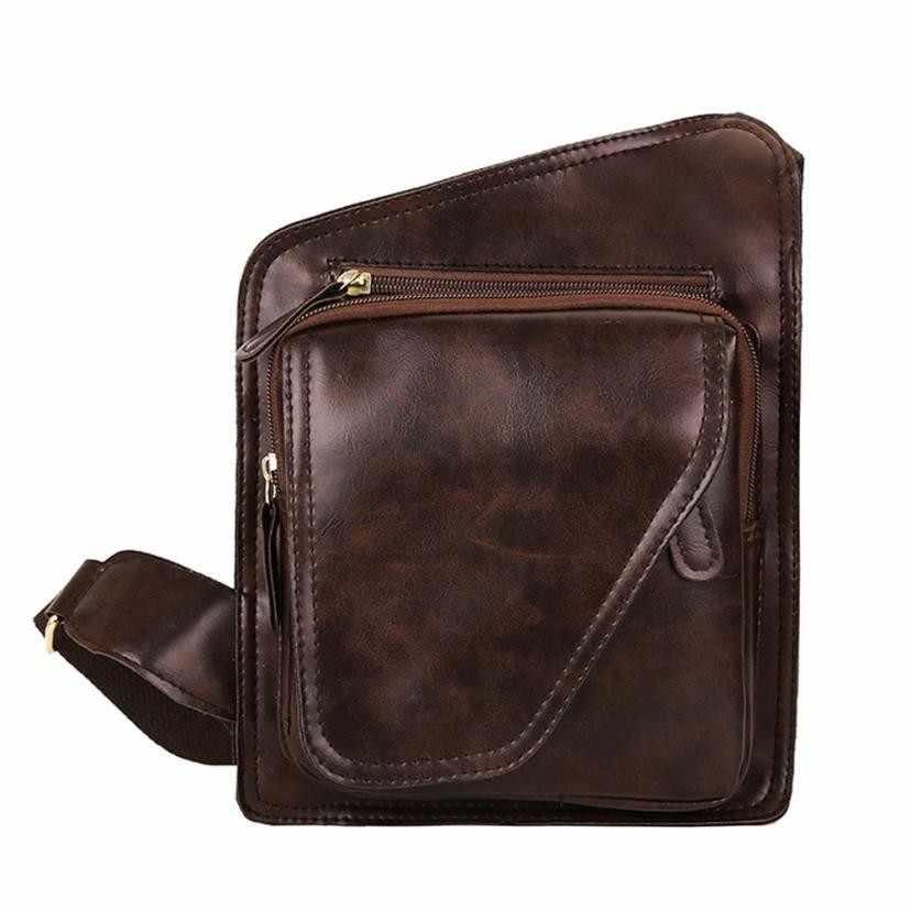 Homem sacos de negócios do vintage mensageiro sacos moda masculina cor pura couro sacos crossbody bolsa ombro sacoche homme