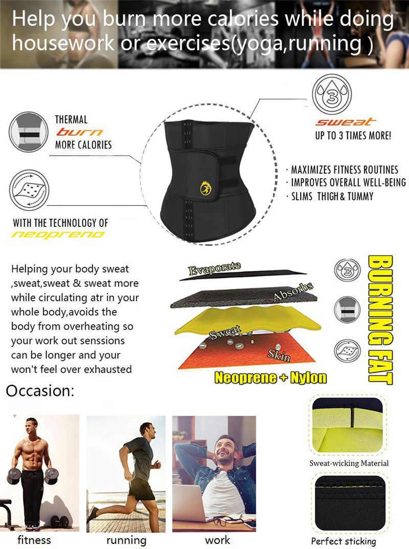 NINGMI Che Dimagrisce Biancheria Intima per Gli Uomini Vita Trainer Shaper Del Corpo Shapewear Gridle Neoprene Sauna Maschio Modellazione Cintura di Perdita Di Peso Cinghia