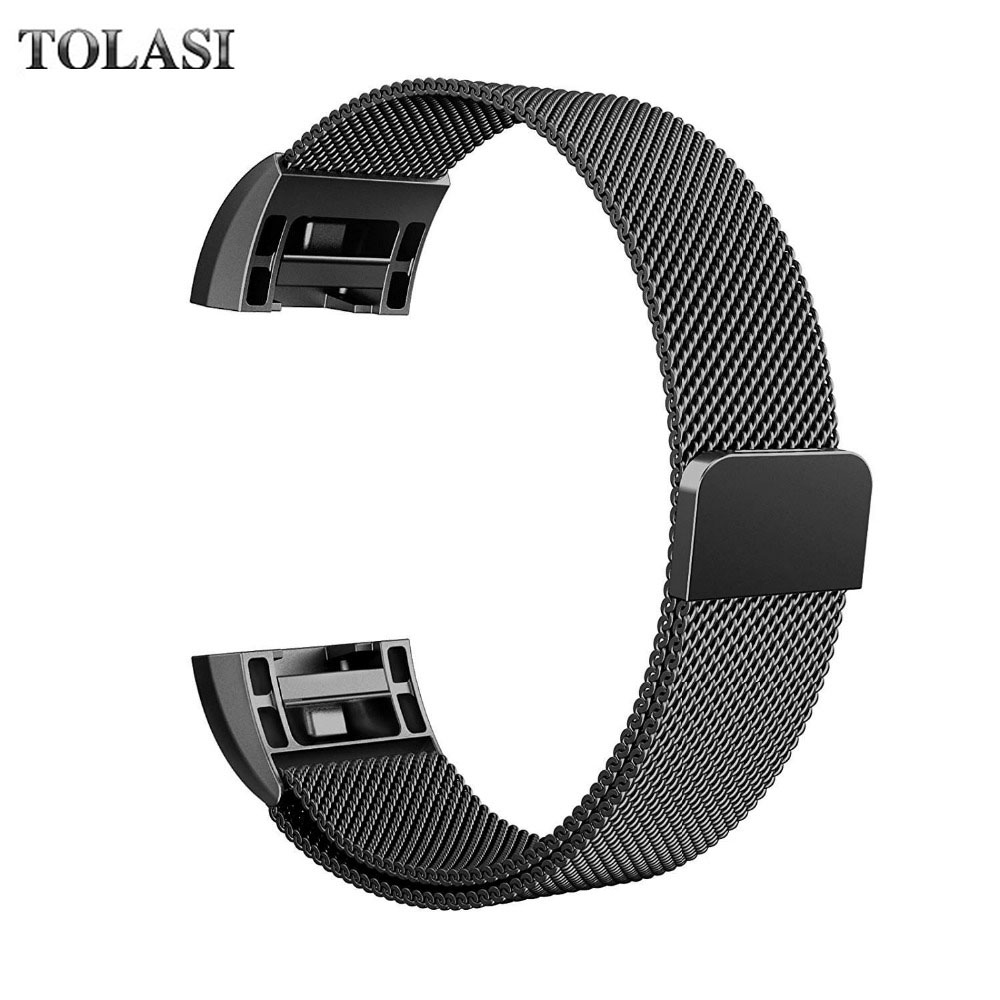 Magnetic Milanese Loop Wrist strap & Link Bracelet Stainless Steel Band for Fitbit Charge 2 band men woman Adjustable Closure joyozy milanese stainless steel strap for fitbit charge 2 band for charge 2 smart wristband bracelet strap charge2 new color
