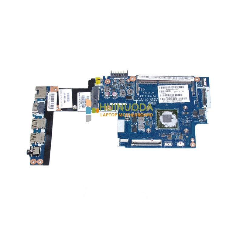 NOKOTION 744189-001 745396-001 Main Board For HP 215 G1 Laptop Motherboard DDR3 with CPU ZKT11 LA-A521P warranty 60 days nokotion main board for hp 240 g3 laptop motherboard zs040 la a995p n3530 cpu ddr3 full test