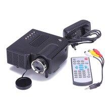 1080P HD LED Hause MulitMedia Theater Kino USB TV VGA SD HDMI Mini Projektor WH Jan 23
