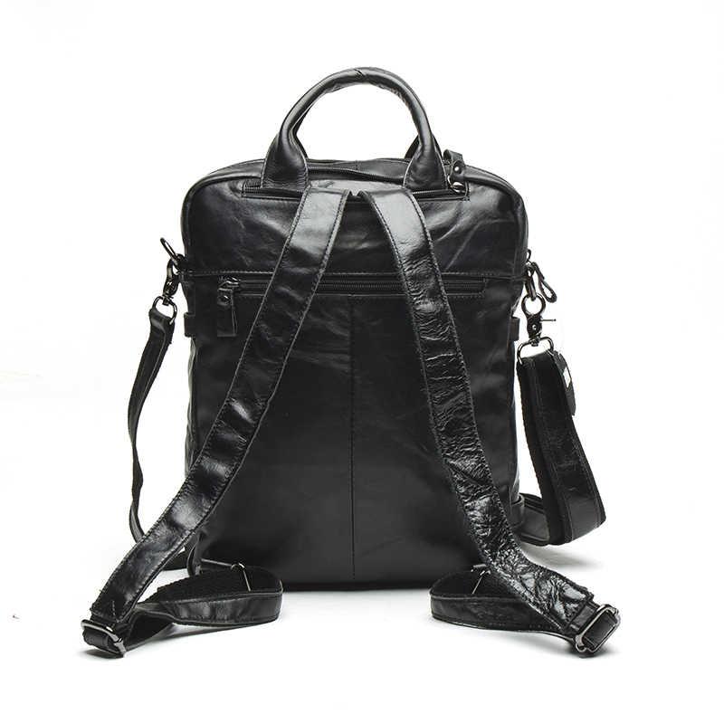 WESTAL mężczyźni prawdziwej skóry plecak mężczyzna na laptopa casual dla mężczyzn Messenger kobiet plecak tornister kobieta plecaki dla mężczyzn 8863
