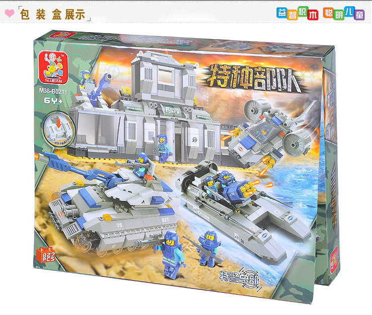 Model building kits compatible with lego city Police SWAT Headquarters 796 3D blocks Educational toys hobbies for children city architecture mini street scene view reims cathedral police headquarters library fire departmen building blocks sets toys