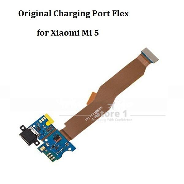 Placa do módulo usb original doca de carregamento porto + mic microfone fita cabo flex peças de reposição para xiaomi mi5 mi 5