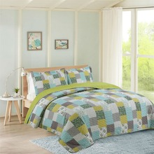 Summer 100% Cotton Patchwork Quilt 1 piece Twin Size Student Quilts Sofa Blanket Bed Cover Sheet Kids Bedding Coverlets