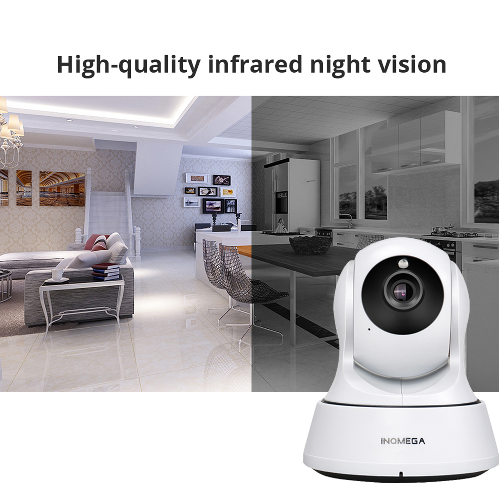 INQMEGA 720P IP kamera vezeték nélküli Wifi Cam beltéri otthoni - Biztonság és védelem - Fénykép 3