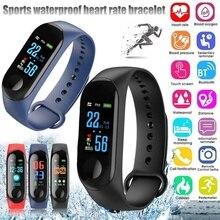 Bluetooth Sport M3 Smart Wristband for Men Women Blood Press