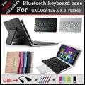 Для Samsung GALAXY Tab 4 T331C Случай Клавиатуры Bluetooth 8 7-дюймовый Планшетный Bluetooth чехол Клавиатуры для Tab 4 T331c Freeshipping + подарок