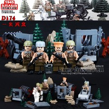 Купить с кэшбэком 2017 New Doll D174 WW2 East Line Counterattack Militray With Weapons Toys For Children Building Blocks Legousi Bricks Gifts