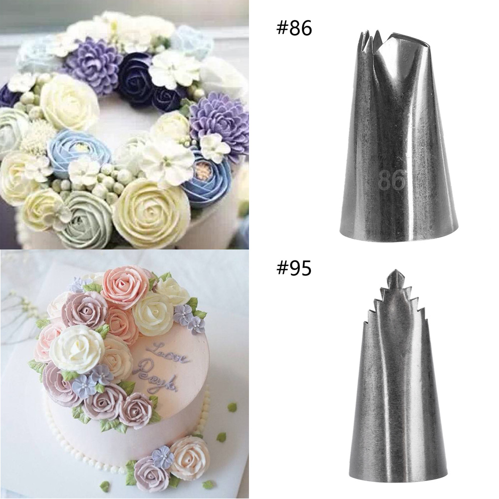 1 Pc New Leaves Nozzles Cake Decorating Tools Stainless ...