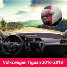 Auto Cruscotto Evitare pad luce Strumento di copertura piattaforma scrivania Tappetini Tappeti LHD Per Volkswagen VW Tiguan 2009-2015 2016 2017 2018