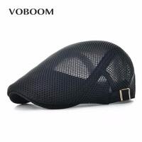 VOBOOM Summer Spring Breathable Beret Homme For Men Women Outdoor Soft Ivy Flat Cap