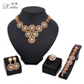 New arrived  Women Fashion Bridal WeddingCostume Jewelry Sets  Gold Plated Elegant Romantic Dubai African