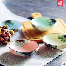 Ceramic  American style hand-painted ceramic Salad Bowl dishes fruit dishes dish shaped plate