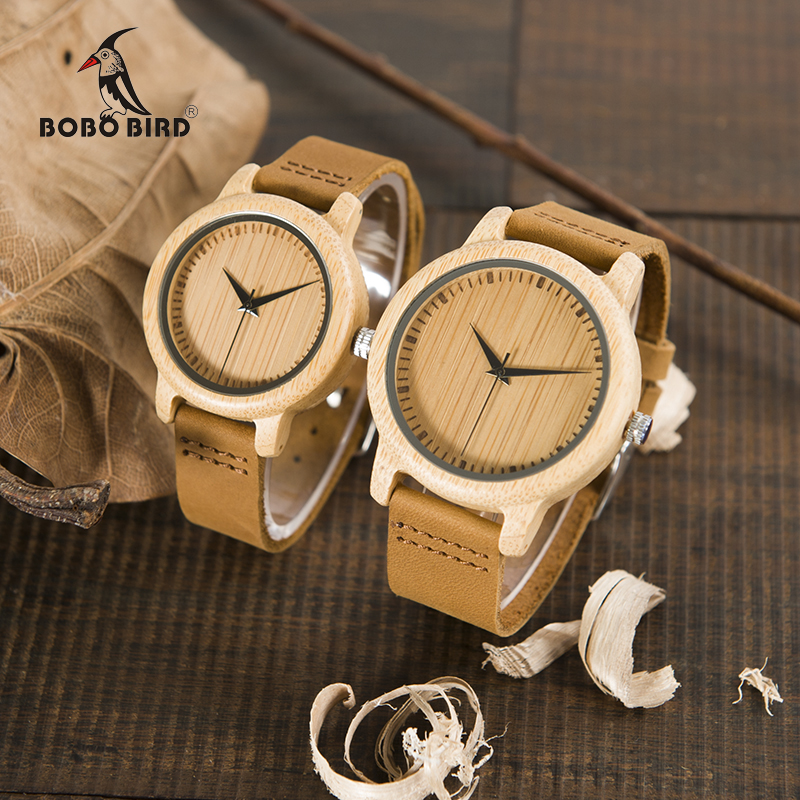 BOBO BIRD A09A10 Ladies Casual Quartz Watches for Men Natural Bamboo Watch face Women's Brand Lovers Watches in Box Dropshipping  promise a sfu9051 bobo