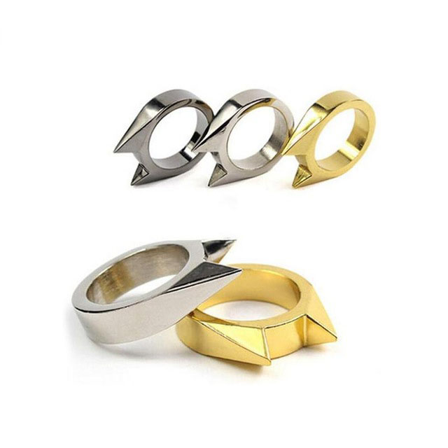 FGHGF 1pc self-defence stainless steel safety survival finger ring self defence outdoor EDC weapon tool self defence ringFGHGF 1pc self-defence stainless steel safety survival finger ring self defence outdoor EDC weapon tool self defence ring