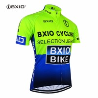 BXIO Short Sleeve Cycling Jersey Shirts Green Raiders Jersey Ciclismo Camisa De Bike Clothing Size XS