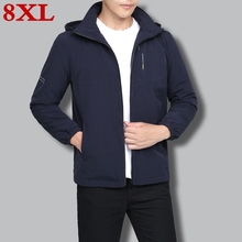 new plus size 8XL 7XL Mens Hoodies Men jacket Wool Liner Autumn And Winter  Warm Fleece for Tracksuit Male jackets