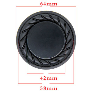Image 4 - Aiyima 2PC 90MM 64MM Rubber Passive Radiator Speaker Bass Vibration Membrane Diaphragm Auxiliary Subwoofer DIY