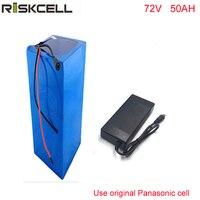 72 72 V 50Ah Volt 7000 Watt eBike Bateria De Lítio 18650 célula de Bateria Para Moto Elétrica Para Panasonic