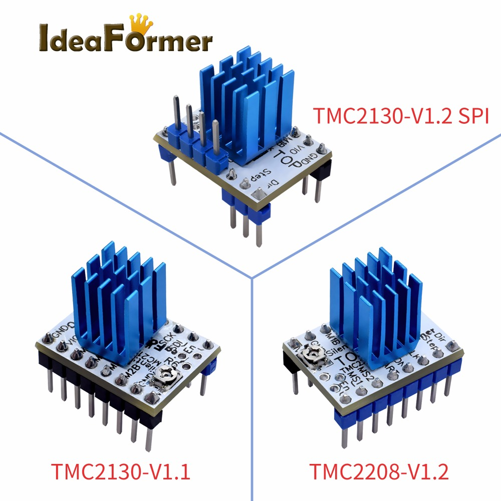 5pcs TMC2130 V1.1/V1.2SPI TMC2208 V1.2 Stepper Motors StepStick Mute Driver Excellent Silent Stability Protection For 3D Printer