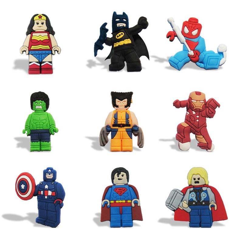 Zonnig 8-12 Stks/partij Justice League Magneten Schoolbord Magneten Koelkast Stickers Kids Educatief Speelgoed Reizen Accessoires Bagagelabel