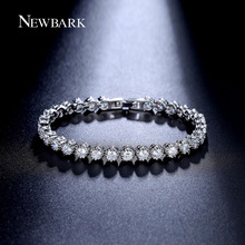 NEWBARK Sarkling Bracelet Round Cubic Zirconia 30pcs 0.25 Ct Bracelets Jewelry Bijoux Pulseira Feminina Christmas Gifts