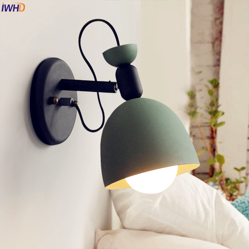 Nordic Style LED Wall Light Bedroom Aisle 4 Colors Beside Lamp Modern Wall Sconce Lighting Lampara Pared Stair Lights WandlampNordic Style LED Wall Light Bedroom Aisle 4 Colors Beside Lamp Modern Wall Sconce Lighting Lampara Pared Stair Lights Wandlamp