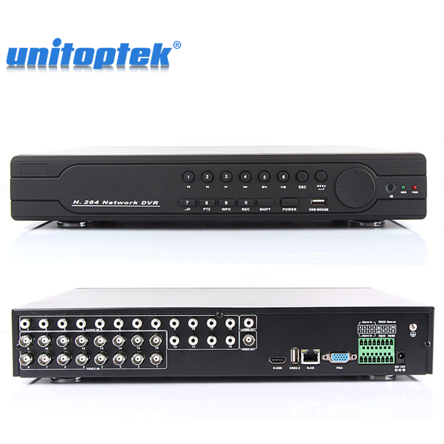 Novo HD 16Ch CCTV DVR Recorder Full D1 Completa 960 H 1080 P HDMI Output HVR NVR DVR 3 Em Um Telefone Móvel & Vista De Rede Gravador DVR