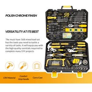 Image 2 - DEKO Hand Tool Set General Household Repair with Plastic Toolbox Case Socket Wrench Screwdriver Knife