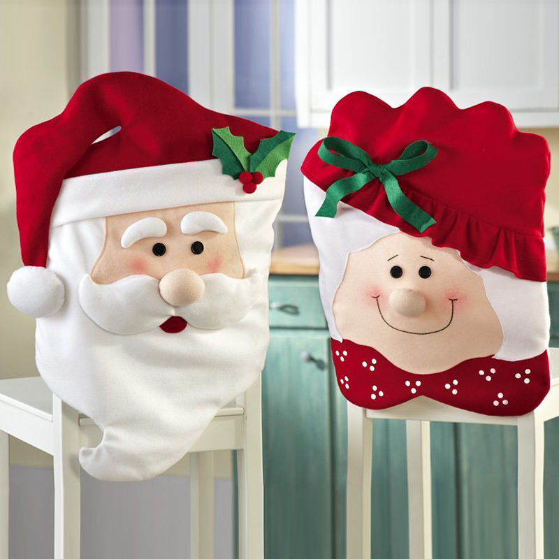 Mr&Mrs Santa Chair Covers Santa Claus Natal Navidad Christmas Decorations For Home Christmas Dining Room Chair Cover Home Decor