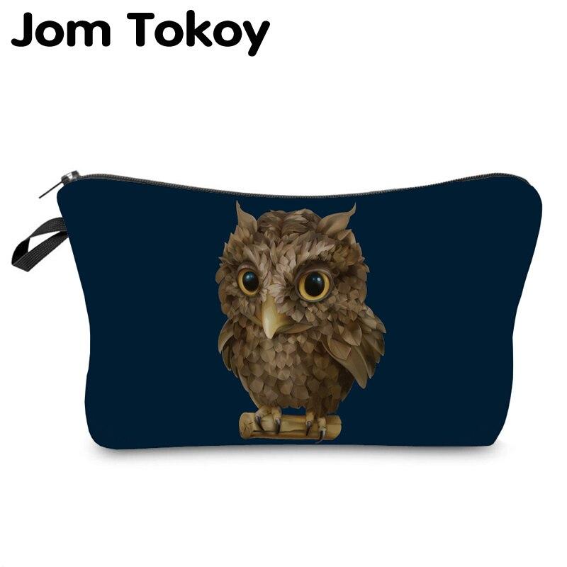 Jom Tokoy Cosmetic Organizer Bag Makeup Bag Printing Owl Cosmetic Bag Fashion Women Multifunction Beauty Bag