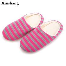 Unisex Japanese Style Women Indoor Home Slippers Plush Ladies Cotton Spring Autumn Breathable Floor Shoe