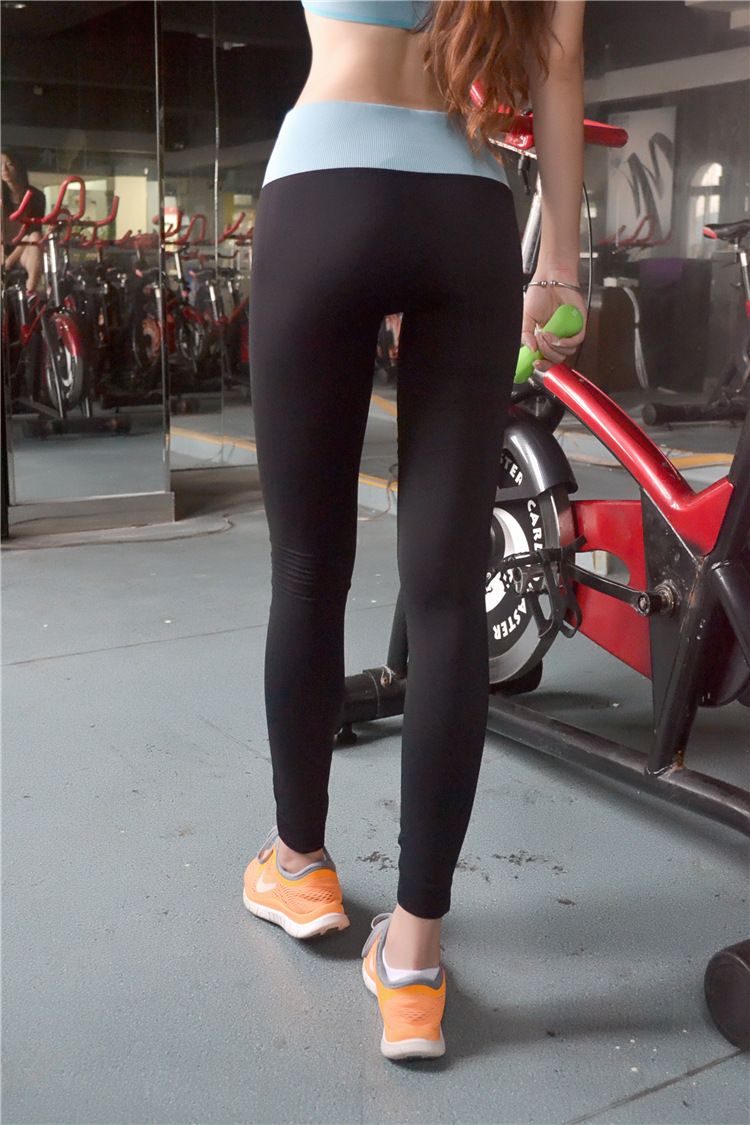 High quality Women Yoga pants Elastic Pants Force Exercise Tights ...