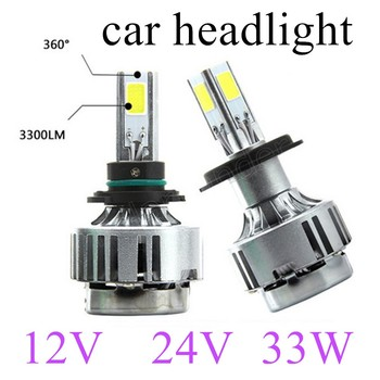 one pair new arrival bulb 12V 24V 33W 6000k H1 H3 car headlight fog lights lamp car styling the lowest price sale 3300LM