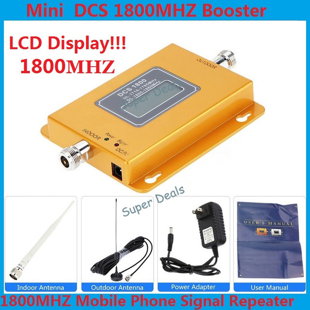 Conjunto completo GSM 1800 4G LTE 1800 Repetidor 60dB GSM 4G amplificador de Señal Móvil de Refuerzo DCS 1800 Celular DCS 1800 mhz