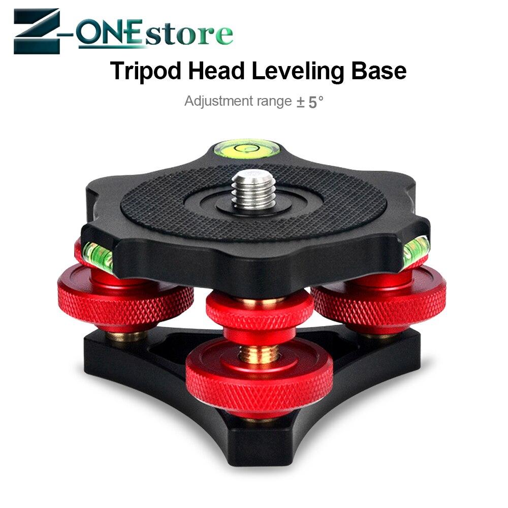 Tête de Base de nivellement d'appareil-photo DSLR cadrans de réglage en alliage d'aluminium à trois roues tête de boule de nivellement de Base pour la tête de trépied d'appareil-photo