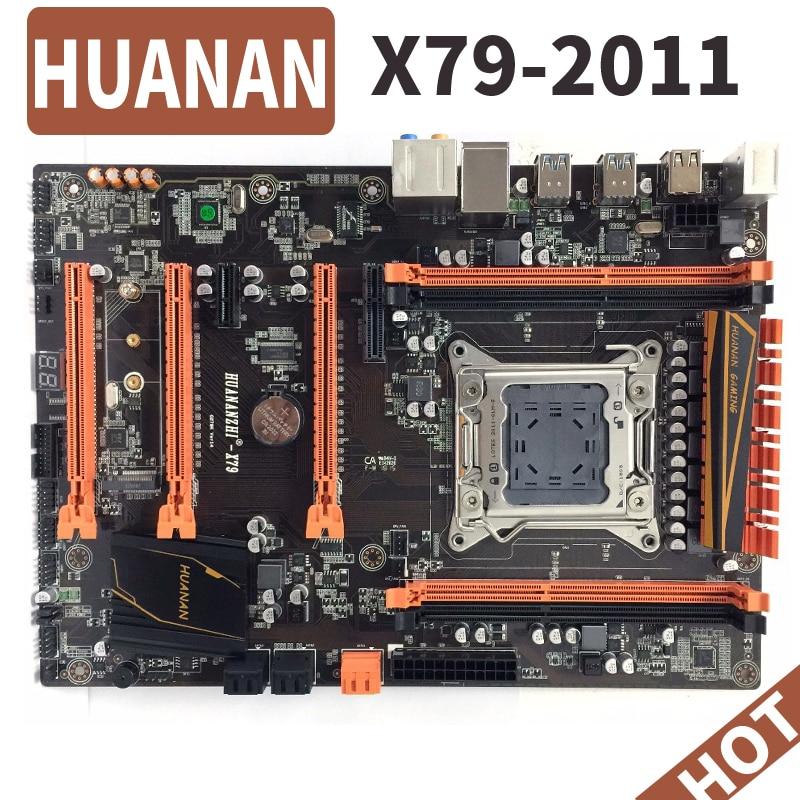 HUANAN deluxe huananzhi X79 LGA 2011 DDR3 las placas base de PC computadora placas base adecuado para servidor RAM de escritorio RAM M.2 SSD