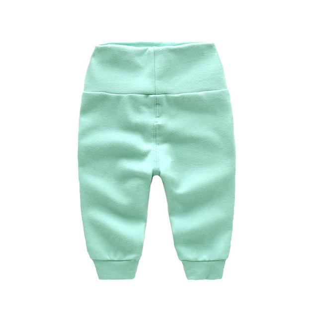 Bebê recém-nascido calças de cintura alta de algodão de inverno 2016 novos meninas calças calças do bebê