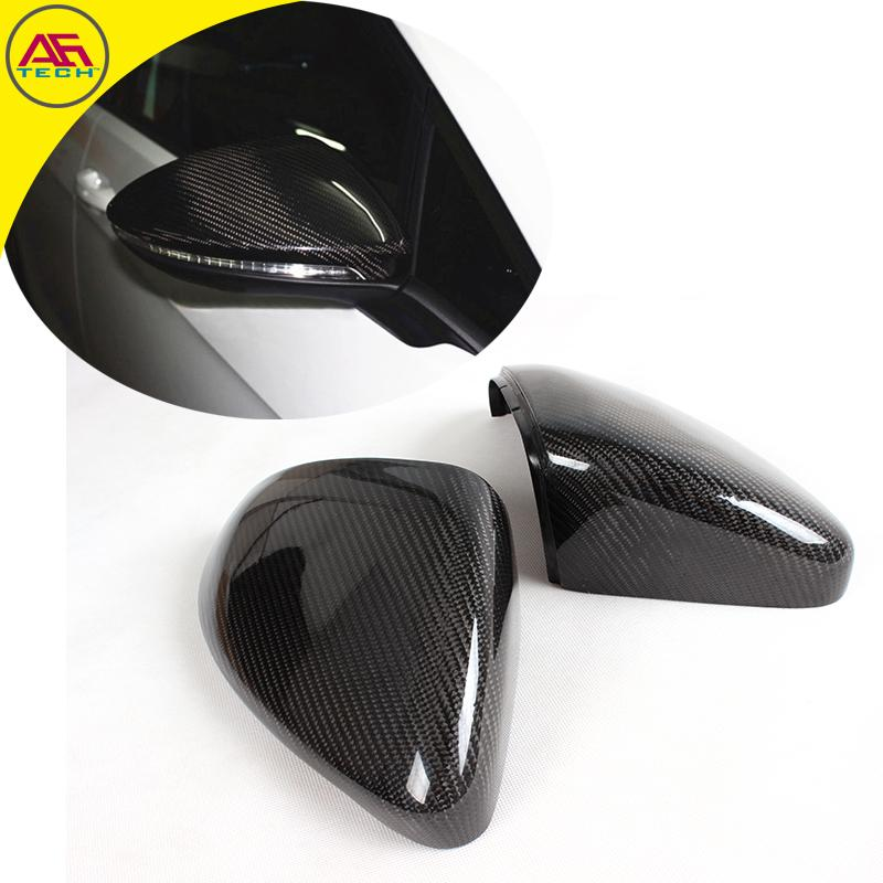 Carbon fiber replacement type side wing mirror caps car rearview mirror covers for Volkswagen/VW Golf VII Mk7 GTI R20 2014+
